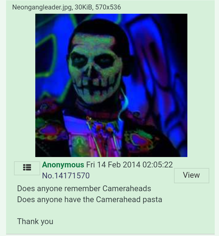 Cameraheads creepypasta - Cameraheads (partially found creepypasta; 2009)