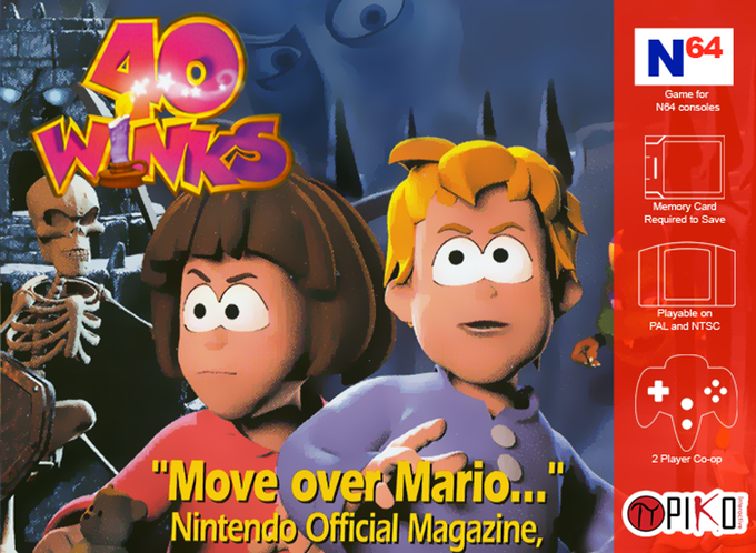 40-Winks N64 Piko Release Box Cover.png