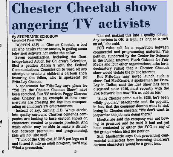 Better Chester Cheetah storyboard scans - Yo! It's the Chester Cheetah Show (partially found cancelled animated series; 1986-1992)