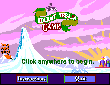 Wonka Holiday Treats Game (found online Wonka game