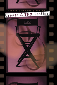 The THX director's chair awarded to winner of the contest.