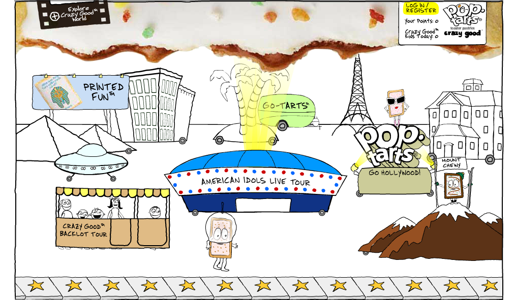 Pop-Tarts Crazy Good World - Drop A Note Flash Game - Pop-Tarts Crazy Good World (lost promotional online games; 2006-2010)