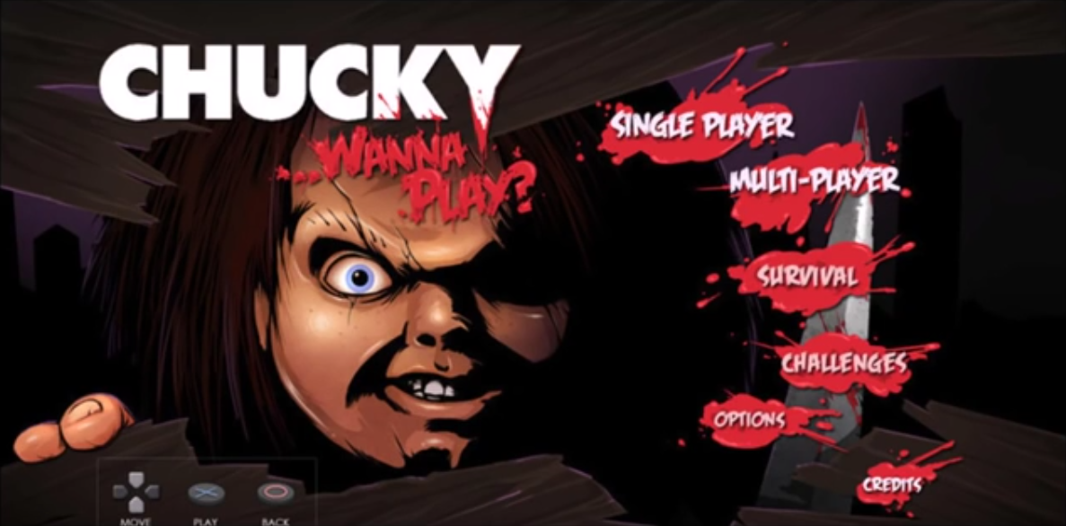 Cancelled Chucky game main menu.png