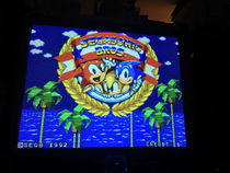 Title screen for SEGASonic Bros.