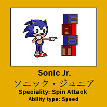 Fan depiction of what Sonic Jr. may have looked like.