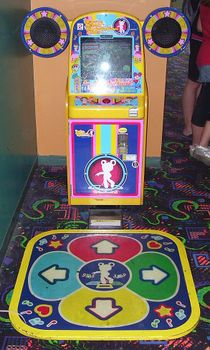 The Dance Dance Revolution Kids arcade cabinet.