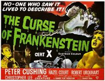 Theatrical poster for The Curse of Frankenstein.
