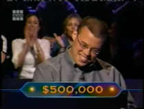 Tim Winning $500,000. (Showed in The Champions Edition opening)
