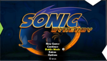 The title screen to the game