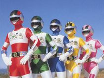 The Bio-Man team from Choudenshi Bioman. The pilot would've used the same costumes.