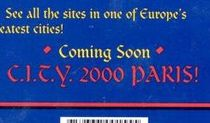 Excerpt from the back cover of C.I.T.Y. 2000, mentioning a sequel.