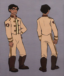 Concept art of Jim Hawkins in his Space Academy uniform.