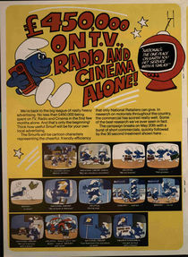 A 1978 magazine showing stills from one of the commercials.