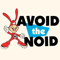 The Noid with the famous Avoid the Noid banner, was commonly used in Domino's ads in the mid-late 1980s.