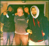 Photograph given to Gawker and the Toronto Star showing the mayor with drug dealers.