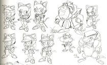 Concept art published in 2012's Samurai Pizza Cats Official Fanbook