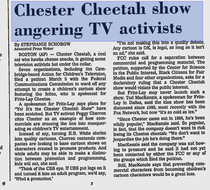Newspaper article about how the series was angering activists due to it's commercial style nature.