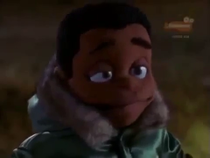 Screenshot of the titular character from the episode The Not So Great Outdoors