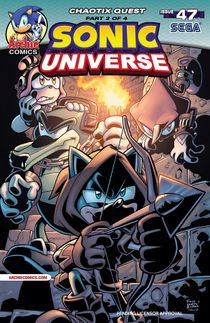 Original cover art to Sonic Universe #47.