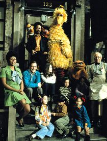 Cast photo from Sesame Street's first season.