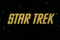 Title card from first season of Star Trek.