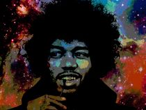 Artwork of Jimi Hendrix.