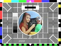 An example of a test card.