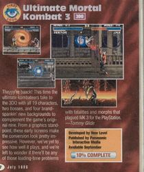 An advertisement in the game as seen in Electronic Gaming Monthly. Notably, the screencaps use a mix of Sega Saturn and SNES screenshots.