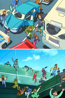 Two scenes removed from the redub, taken from the Japanese DVD.