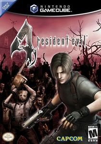 The box art of the final released version of Resident Evil 4.