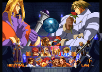 Screenshot of the character select screen