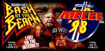 Digital banner for L.A. melee, along with Bash at the Beach 1998.