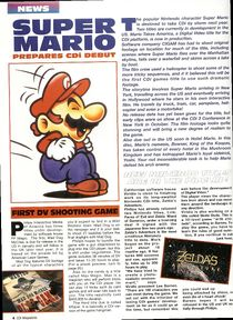Magazine article about Mario Takes America.